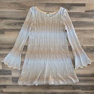 Free People Bell Sleeve Knit Dress